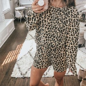 Leopard loungewear set NWT